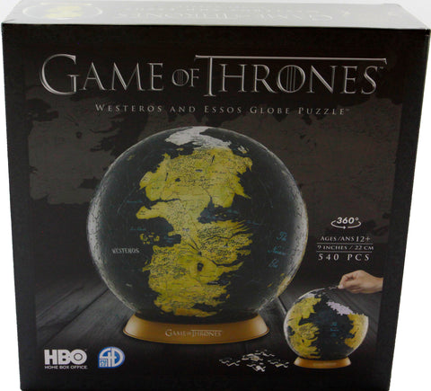 4D GAME OF THRONES GLOBE 9 INCH