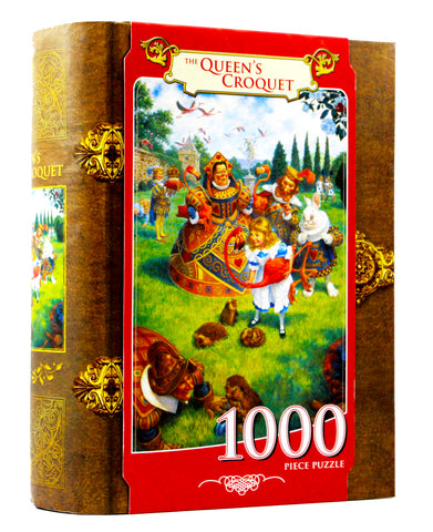 JIGSAW BOOK QUEEN'S CROQUET - 1000 PIECES