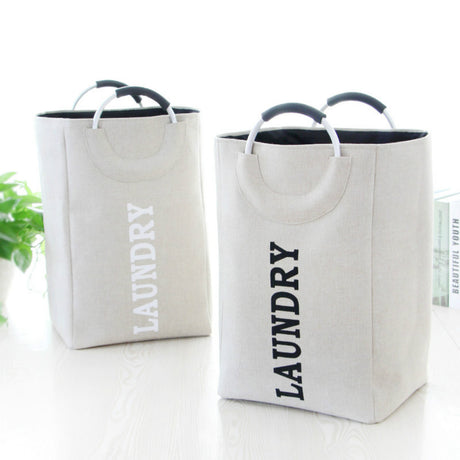 Popular Aluminum Handle Laundry Hamper Square Oxford Cloth Storage Bin