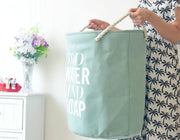 Candy-colored Large Hamper with Thick Canvas and Firm Cotton Rope Handles Basket for Laundry Supplies - Caroeas