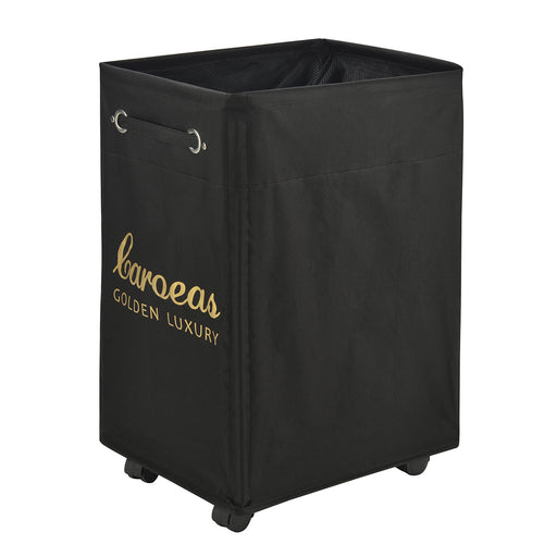 Pro+ Laundry Basket Waterproof Wheeled Laundry Cart Pro+ Collapsible (Black Gold) - Caroeas