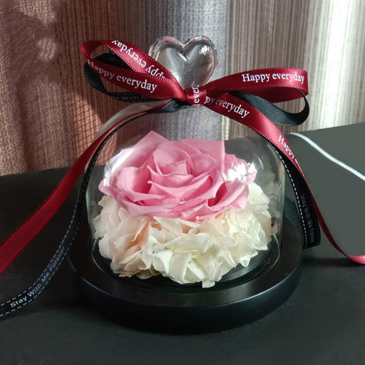 Flower Box Ideal Gift for Women with Preserved Rose - Caroeas