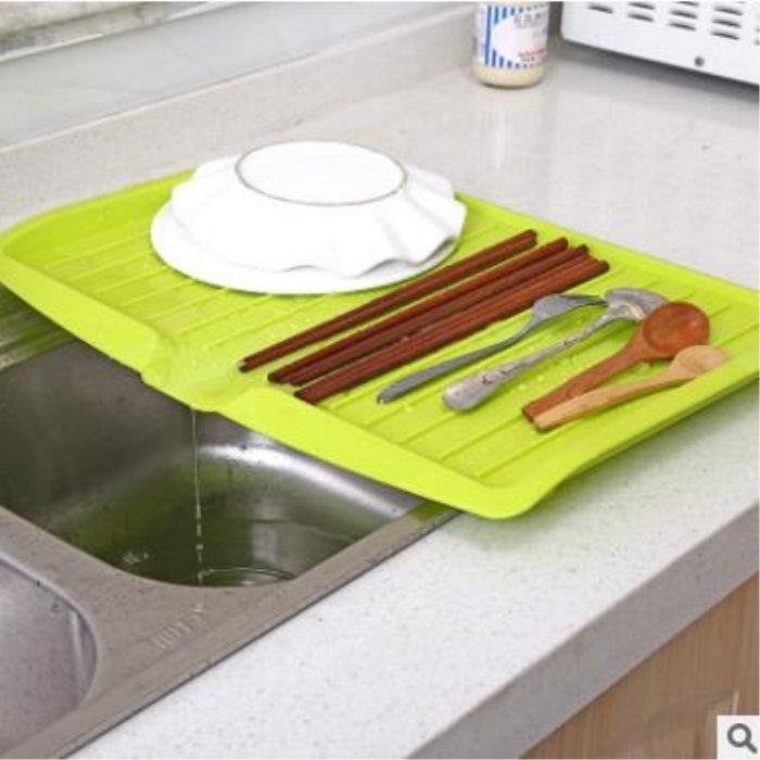Portable Dish Drying Rack with Food-Grade Material Safe for Kids