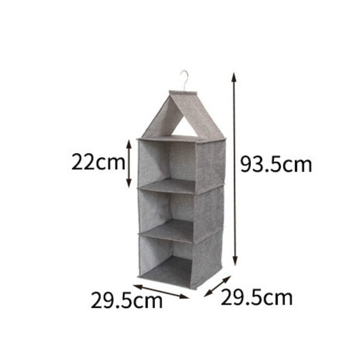 Rustic Hanging Shelves Closet Easy Storing Lightweight Waterproof Material 2 Colors & 2 Sizes Available - Caroeas