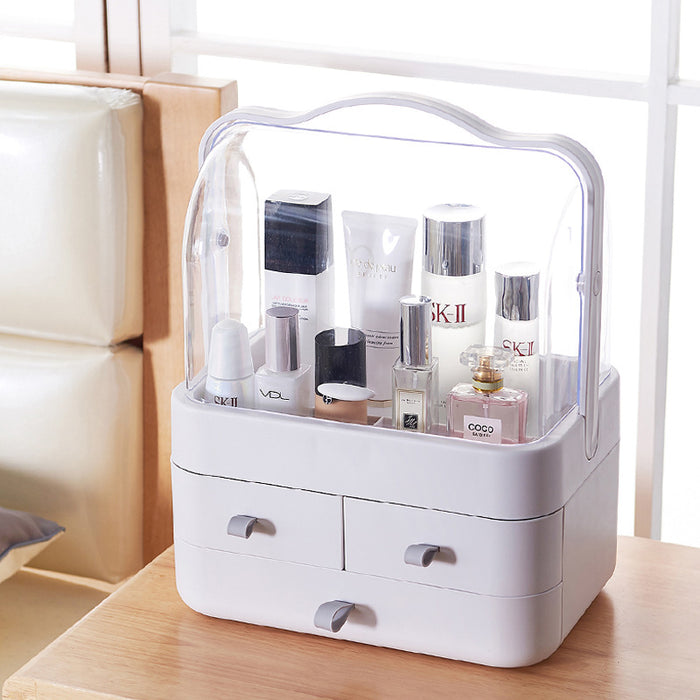 Makeup Vanity Organizer with Handle for Easy Transportation - Caroeas