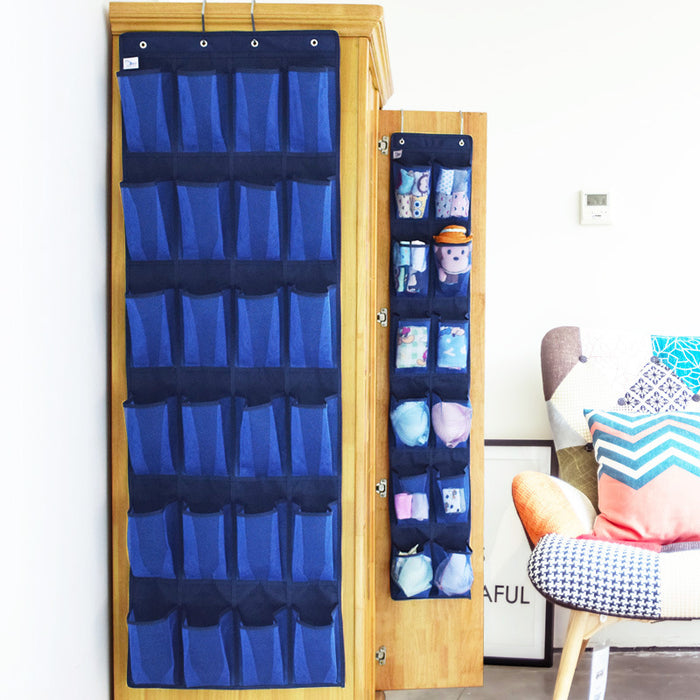 Over The Door Shoe Organizer Durable Hanging Hook Clear Mesh Pockets for Better Protection - Caroeas