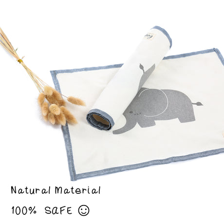 Elephant Cute Placemat Fabric Stain-resistant Table Mat Non-slip Washable Placemat Set of 4 mixed sizes