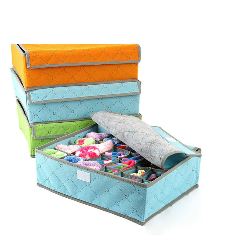 Bedroom Drawer Organizer with Protected Lid for Underwear Storage - Caroeas