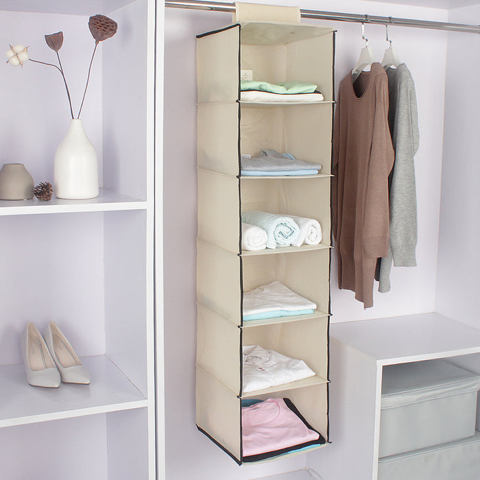 Heavy Duty Hanging Closet Shelves with Upgraded Durable Material to Hold Clothes - Caroeas