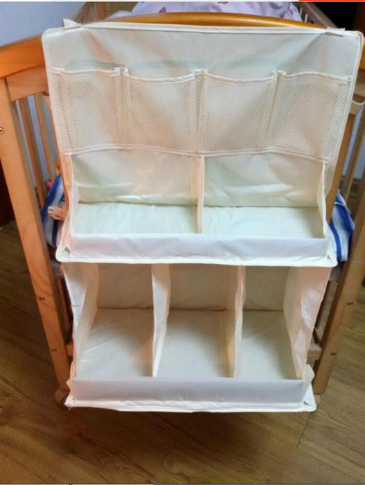 Multi-functional Baby Supplies Organizer Large Capacity Baby Crib Hanging Storage Bag - Caroeas