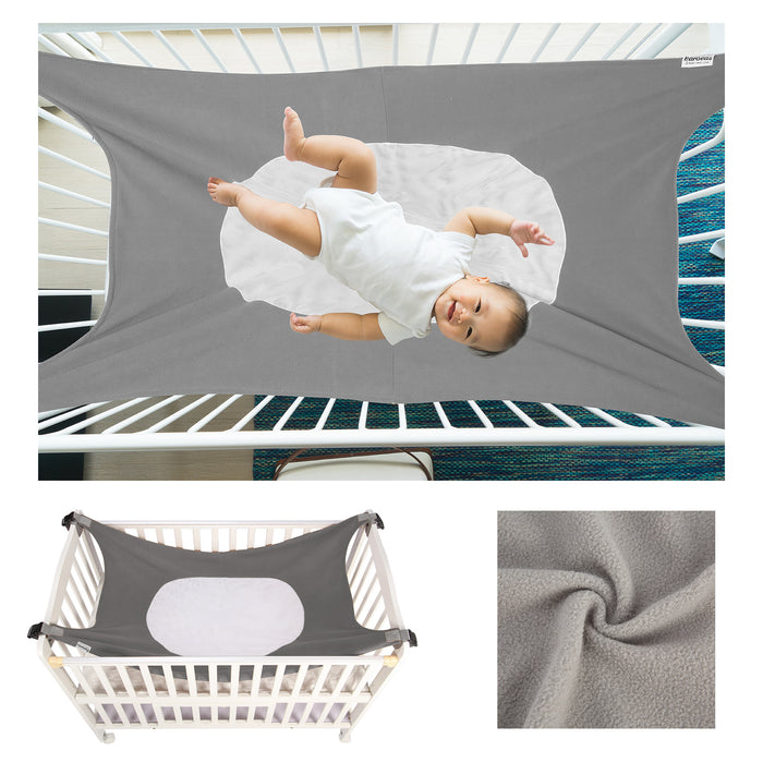 Baby Hammock | Baby Crib Hammock | Baby Hammock for Crib Grey Color with Soft Touch Surface - Caroeas