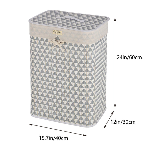 Decorative Laundry Basket Removable Liner Collapsible Laundry Hamper - Caroeas