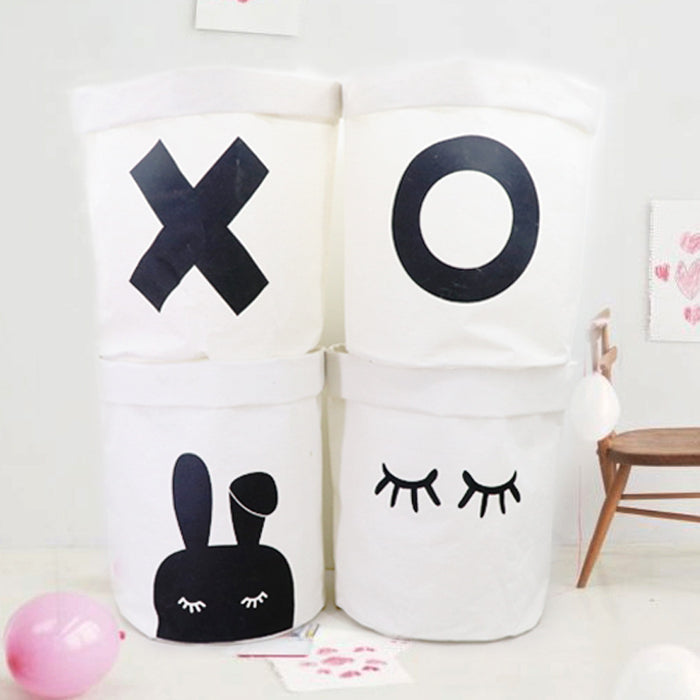 Laundry Sorter Hamper Waterproof Coating with Cute Patterns Suitable for Family - Caroeas