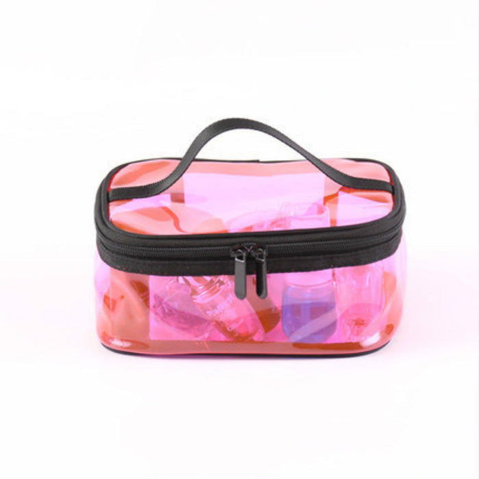 Transparent Makeup Travel Organizer with Zipper 4 Different Shapes and Colors - Caroeas