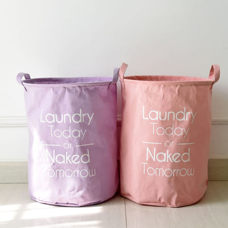 4 Colors Cotton Laundry Bag Waterproof Kids Laundry Basket Toy Storage Bag - Caroeas