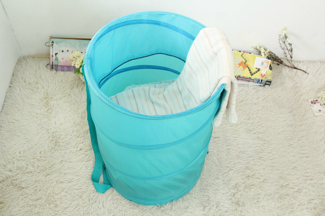 Pop Up Laundry Bakset 5 Colors Extra Large Hamper Folding Storage Basket - Caroeas