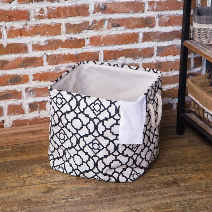 American Pattern Modern Hamper Collapsible Clothes Baskets Sturdy Laundry Bag - Caroeas