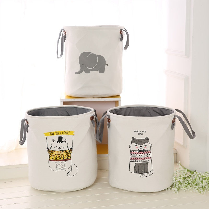 Elephant Laundry Basket Cute Laundry Bags Eco Friendly Small Hamper,  Unicorn, Whale,