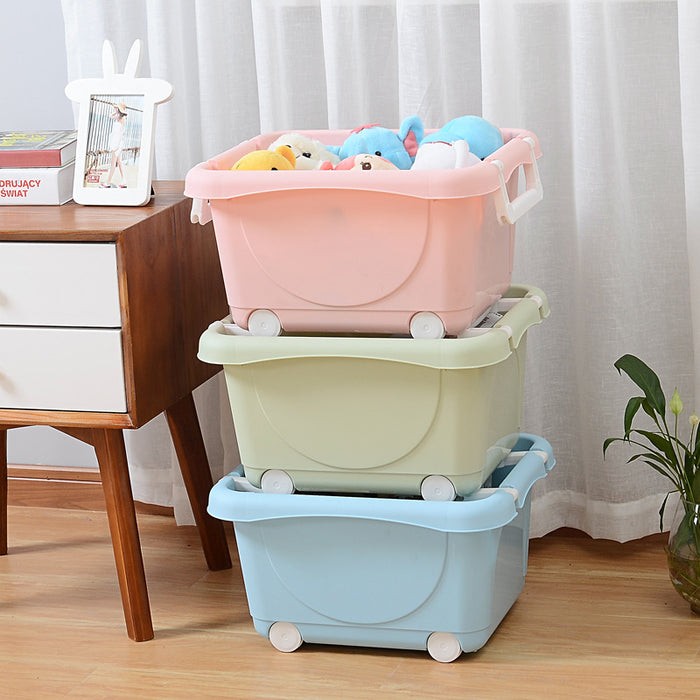 Rolling Laundry Sorter with Flexible Wheels for Easy Transportation 3 Colors - Caroeas