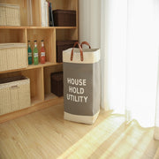Leather Handle Extra Large Laundry Bag High Quality Square Storage Bin