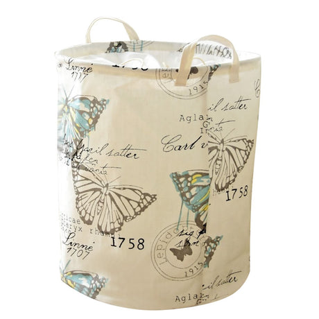 "Cute 18.1"" Butterfly Hanging Laundry Basket Food Safe Dust-Proof Laundry Sorter - Caroeas"
