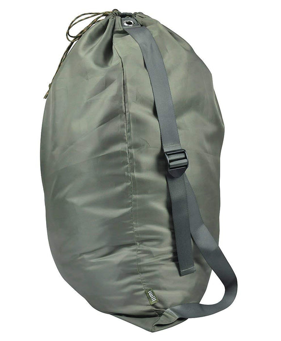 Laundry Bag Light-Weight Travel Bag Portable with Adjustable Straps(Green) - Caroeas