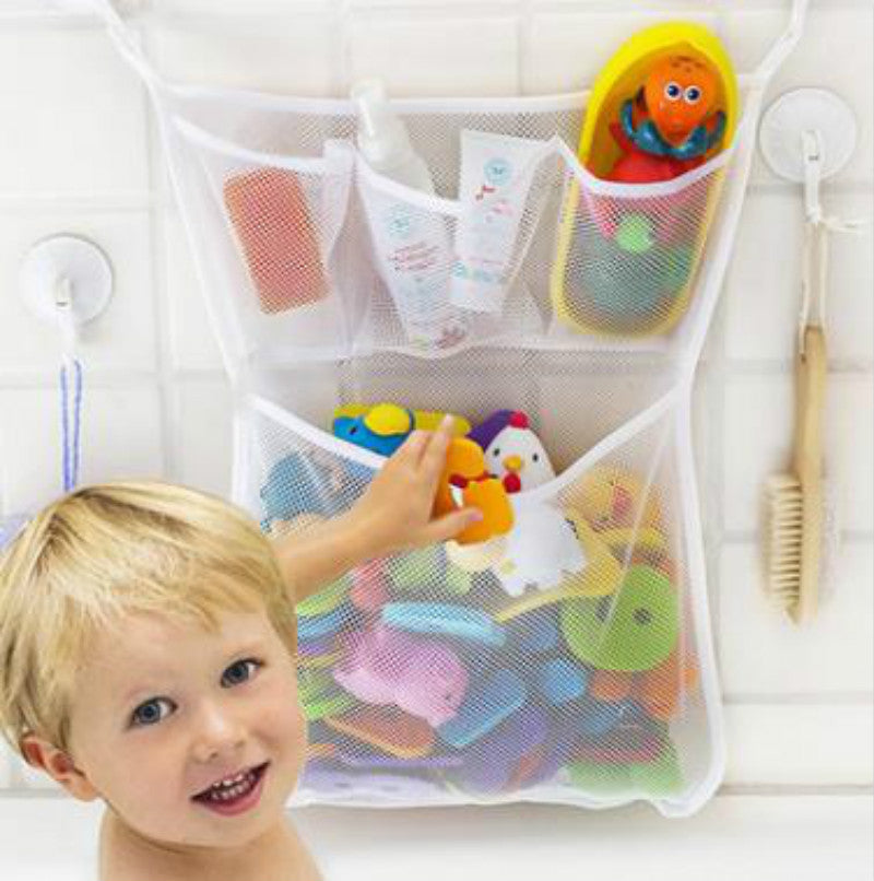Hanging Kid Toys Storage Mesh Bag for Bathroom Easy Clean - Caroeas