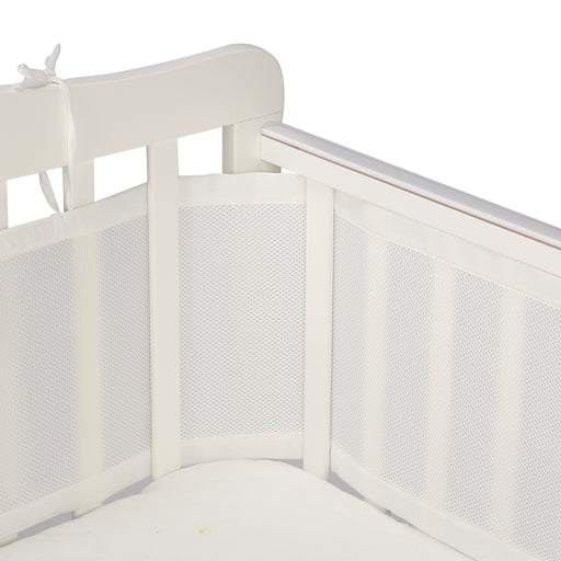 Breathable Crib Bumper | Crib Bumpers | White Crib Bumper 2 Pack - Caroeas