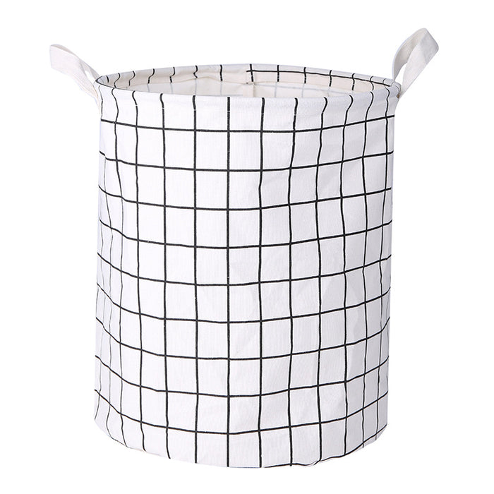 Grid Cute Hamper 15.7inch 3 Colors Cute Laundry Bags for Laundry Room Organization - Caroeas