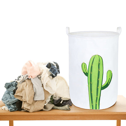 "23.6"" Cactus Collapsible Laundry Hamper Safe Waterproof And Eco-friendly PE Laundry Bag - Caroeas"