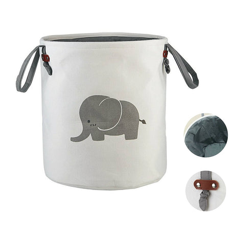 Elephant Laundry Basket Cute Laundry Bags Eco-friendly Small Hamper, Unicorn, Whale, Cat - Caroeas
