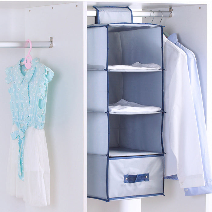 Hanging Shelves Closet with Drawer Rustic Construction Easy Clean - Caroeas