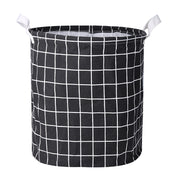 Grid Cute Hamper 15.7inch 3 Colors Cute Laundry Bags for Laundry Room Organization