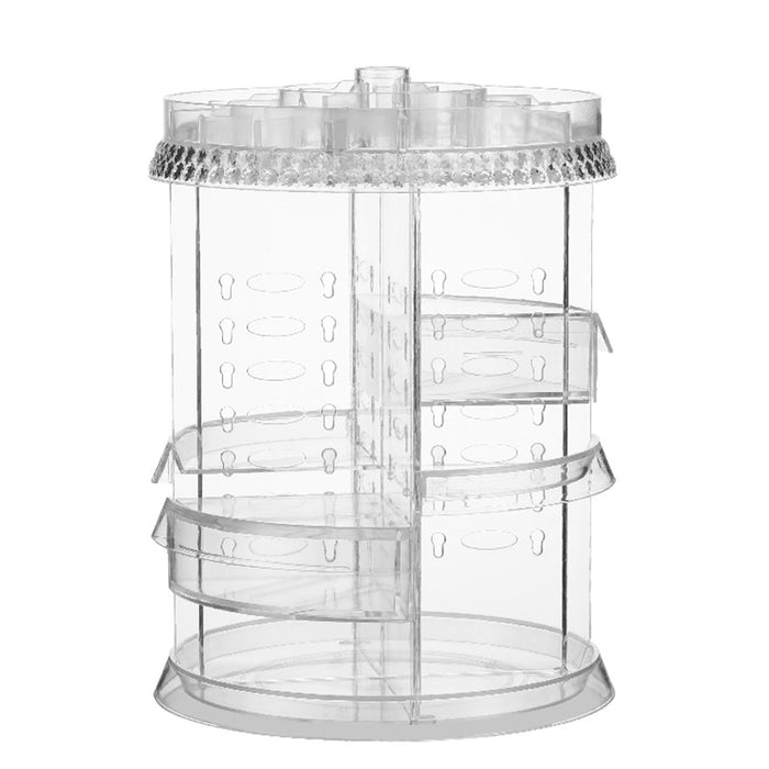 Rotating Makeup Organizer Thick Durable Material 360 Degree Stable Spinning - Caroeas