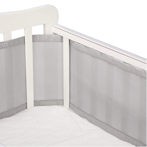 3 Packs Crib Bumpers | Breathable Crib Bumper | Grey Crib Bumper