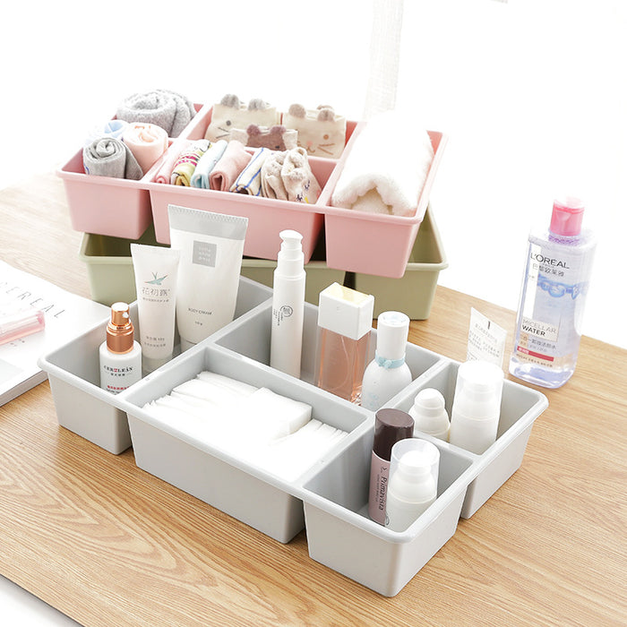 Plastic Drawer Organizer Classic Design with Divided Compartments for Easy Storage - Caroeas