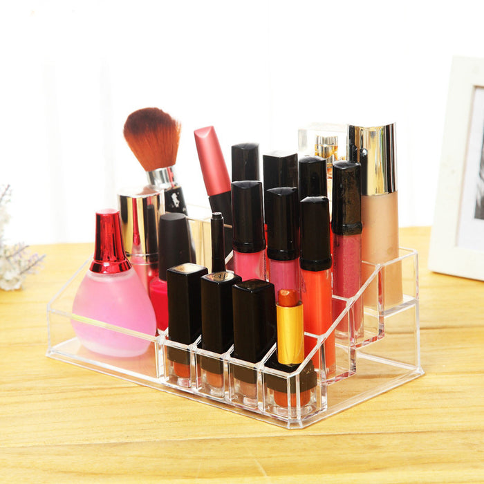 Makeup Organizer Countertop Cosmetic Holder with Spacious Compartment for Easy Storage - Caroeas