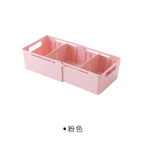 Closet Drawer Organizer with Sliding Tray for Capacity Adjustment 4 Different Colors - Caroeas