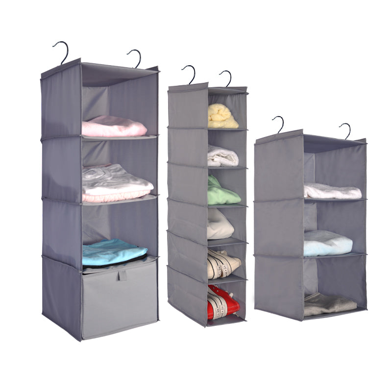 Clothes Hanging Shelves Bag Organizer Designed for Closet and Dorm - Caroeas