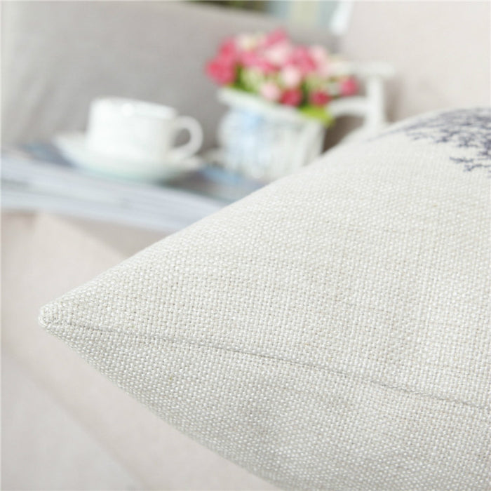 Soft Linen Throw Pillow Covers Simple Modern Design Easy Clean 18 x 18 Inches - Caroeas