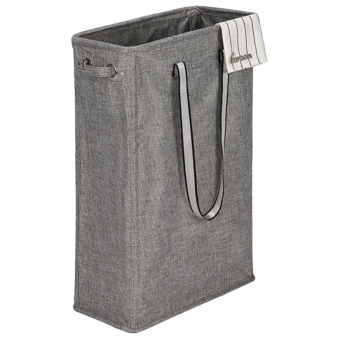Handy Laundry Bin with Soft HandlesFoldable Laundry Basket for Corner Space (Light Grey) - Caroeas