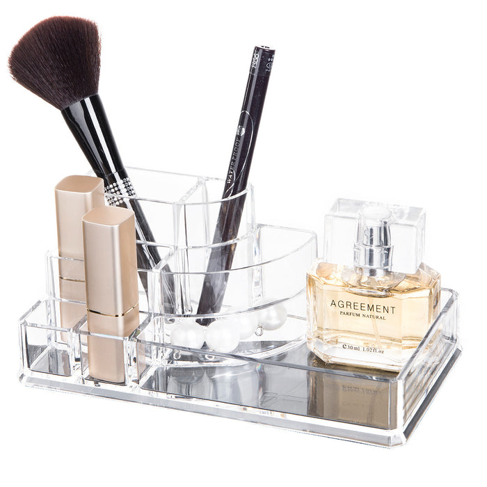 Makeup Desk Organizer with Eco-friendly Acrylic Material  and Multi-combination Storage - Caroeas