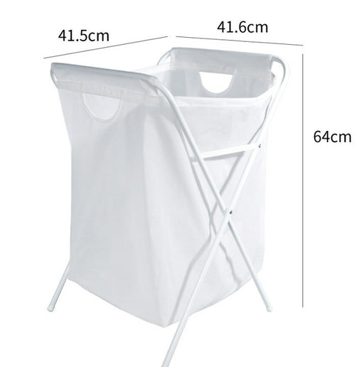 Collapsible Hamper with PEVA Material and Extra Handle for Waterproof Function and Easy Transportation(White)