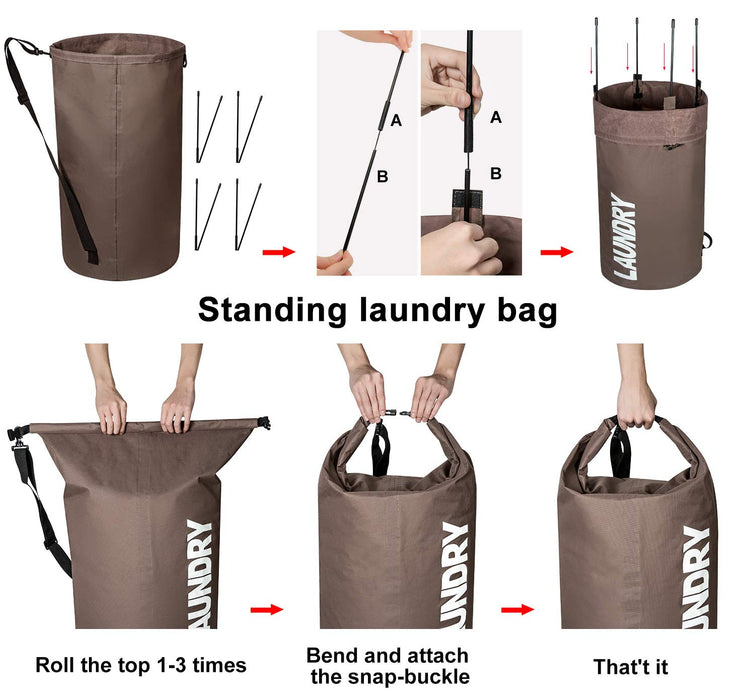 Extra Large Laundry Bag with Wide Shoulder Strap for Easy Transportation - Caroeas