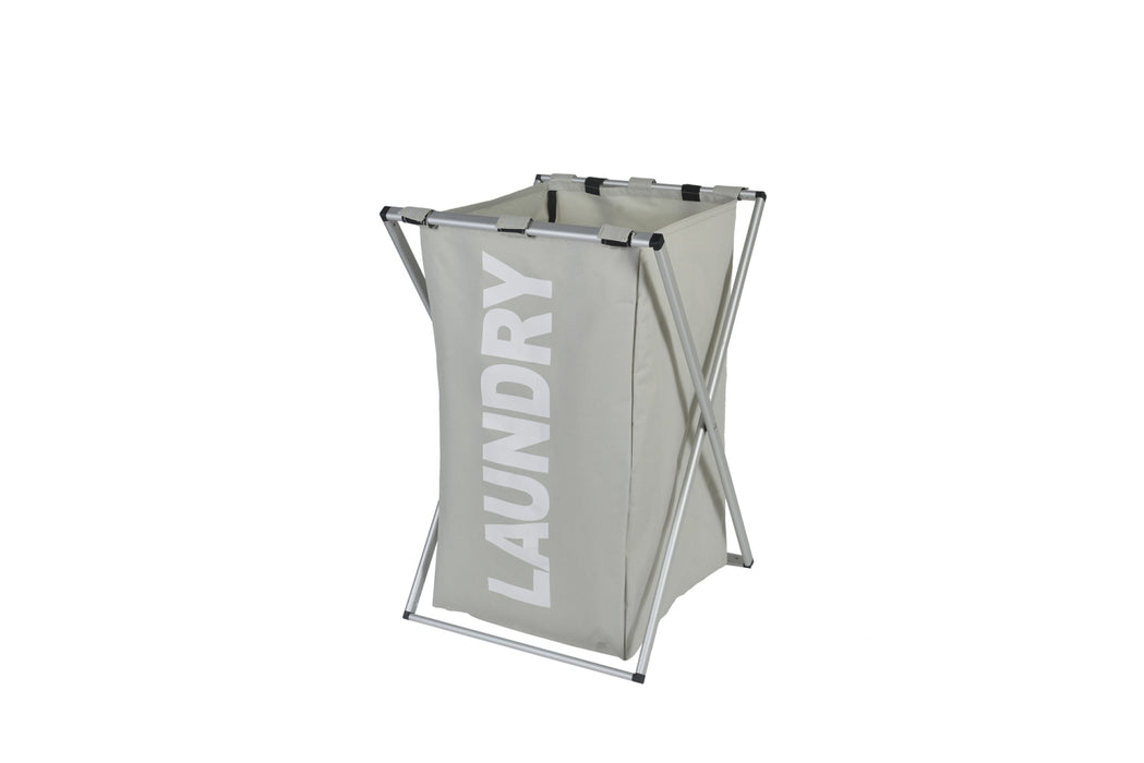 Large Laundry Hamper Collapsible Design with Aluminum Frame Soft Handles - Caroeas