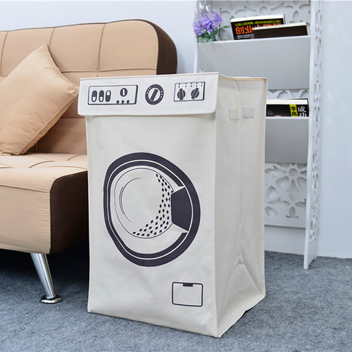 Laundry Baskets with Lids Large Capacity Reliable Fiberglass Support Folding Design