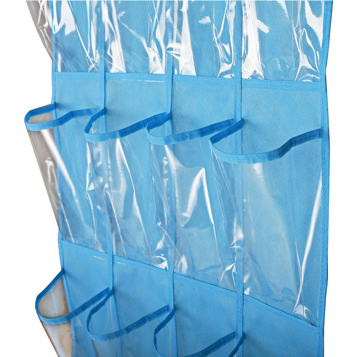 Easy Shoe Organizer with Clear PVC Pockets Easy Clean Material Sturdy Hanging Design - Caroeas