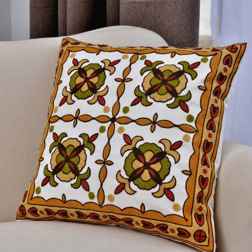 Vintage Luxury Decorative Throw Pillow Covers Single-Stitch Embroidery Craft for Home - Caroeas