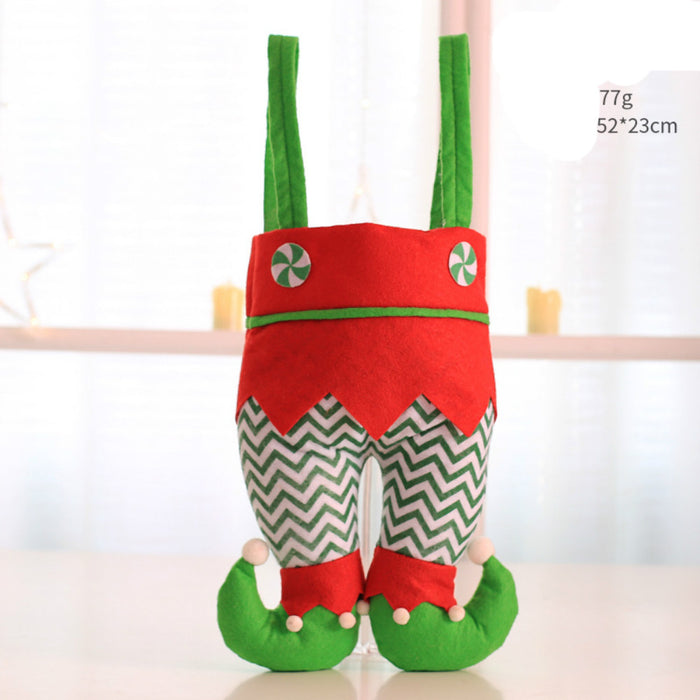 Gift Wrap Storage Container Santa Design with Dual Handles for Holiday Decoration - Caroeas