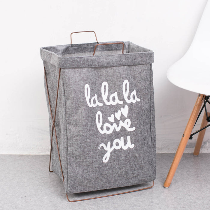 Beautiful Wording Children S Hamper Metal Wire Stand Firm Laundry Tote Caroeas